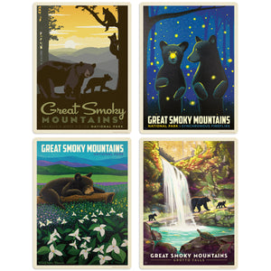 Great Smoky Mountains Bears Decal Set of 4