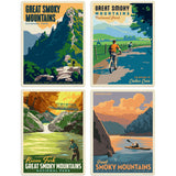 Great Smoky Mountains Great Outdoors Decal Set of 4