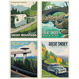 Great Smoky Mountains Scenic Travel Decal Set of 4