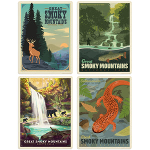 Great Smoky Mountains Wildlife Decal Set of 4