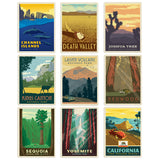 California National Parks Decal Set Set of 9