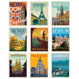 Great European Cities Decal Set Set of 9