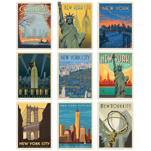 New York City Decal Set Set of 9