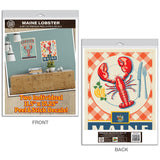 Maine Lobsters Fresh Caught Seafood Decal Set of 2
