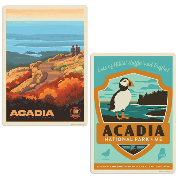 Acadia National Park Cadillac Summit Maine Decal Set of 2