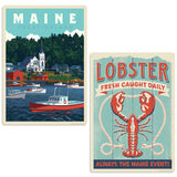 Downeast Maine Lobster Decal Set of 2