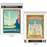 Washington DC Monument Lincoln Memorial Decal Set of 2