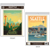 Seattle Washington Skyline Decal Set of 2