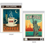 New York City Coffee Decal Set of 2