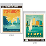 Orlando Tampa Florida Vinyl Decal Set of 2