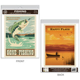 Gone Fishing Decal Set of 2