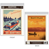 Boating on the Lake Decal Set of 2