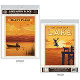 Lake My Happy Place Decal Set of 2