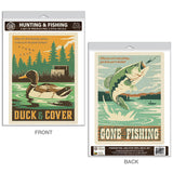 Duck Hunting & Fishing Decal Set of 2