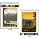 Back to Nature Cabin Decal Set of 2