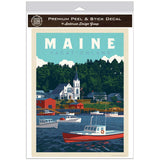 Boothbay Harbor Maine Vacationland Decal