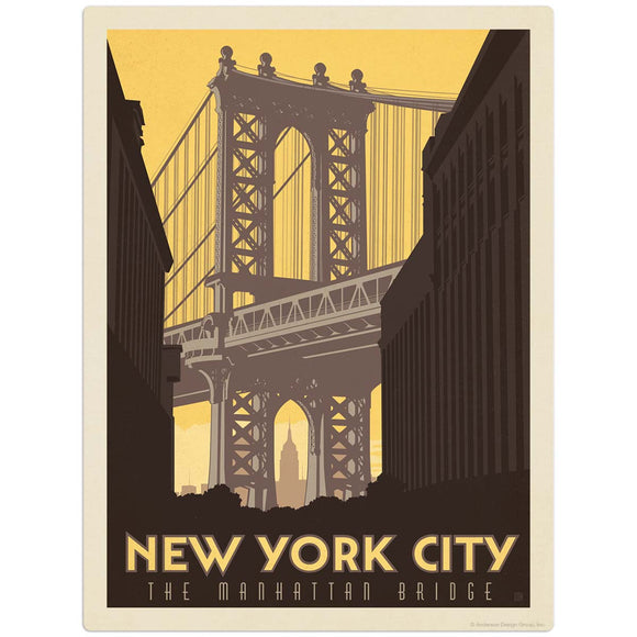 USA_New_York_Manhattan_Bridge Wholesale Decal
