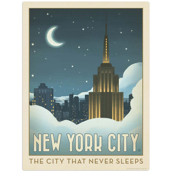 USA_NYC_Moon_lit_Clouds Wholesale Decal
