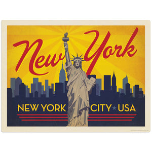 USA_NYC_Skyline_Horizontal Wholesale Decal