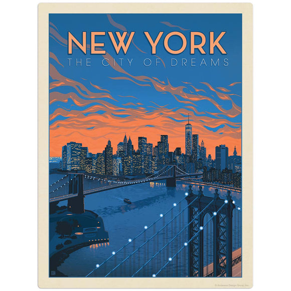 USA_New_York_City_of_Dreams Wholesale Decal