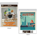 Texas Major Cities Decal Set of 4