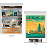 Chicago Landmarks & Sites Decal Set of 4
