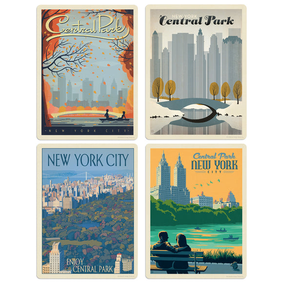 ADG NY Central Park 4 Decal Set Wholesale - US Travel