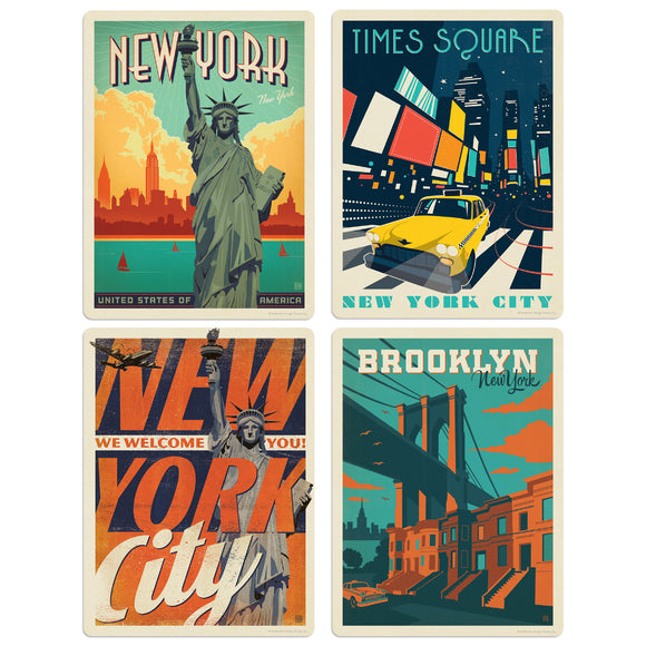 ADG NY City 4 Decal Set Wholesale - US Travel