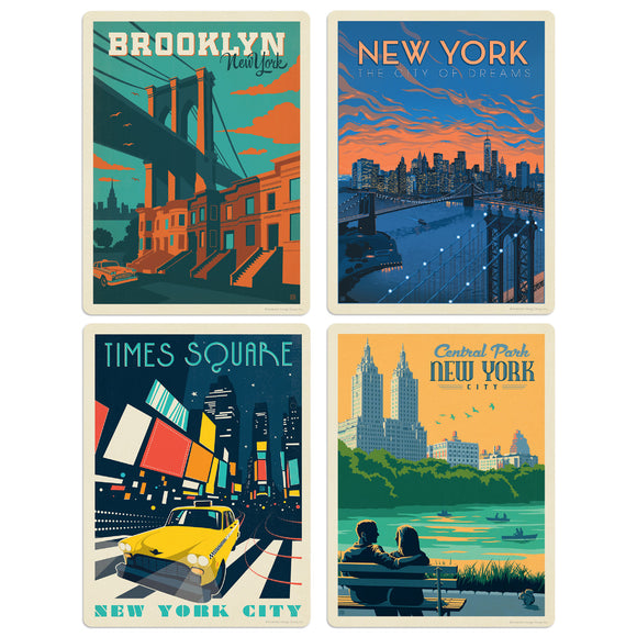 ADG NY1 4 Decal Set Wholesale - US Travel