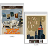 New York City Deco Style Decal Set of 4