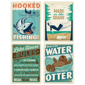 ADG Lake1 4 Decal Set Wholesale - Lake And Lodge