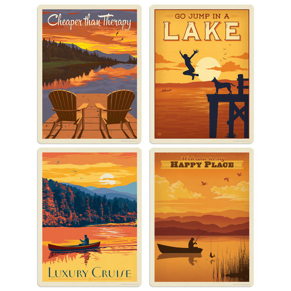 ADG Lake2 4 Decal Set Wholesale - Lake And Lodge