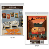 Trailer Camping Cabin Decal Set of 4