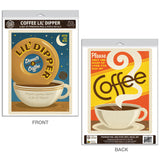 Coffee Lil Dipper Donut Decal Set of 2