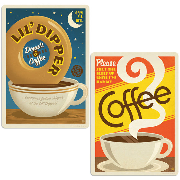 ADG 2 Decal Set Wholesale - Coffee All Night