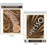 Cappuccino Espresso Italian Coffee Decal Set of 2