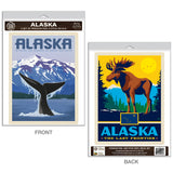 Alaska Whale Decal Set of 2