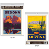 Arizona Cathedral Rock Sedona Decal Set of 2