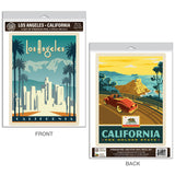 Los Angeles California Golden State Decal Set of 2