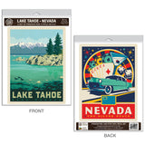 Lake Tahoe Nevada Silver State Decal Set of 2