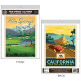 Palm Springs California Golf Decal Set of 2