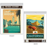 San Diego California Golden State Decal Set of 2