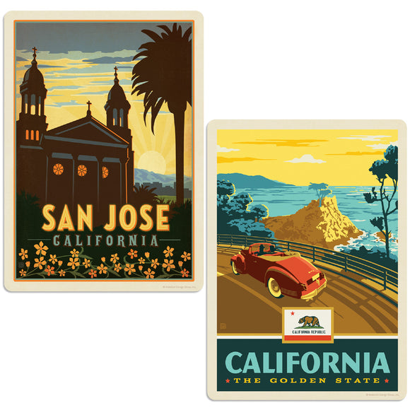 ADG 2 Decal Set Wholesale - US Cities California 9