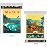 Big Sur California McWay Falls Decal Set of 2