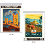Sacramento California Tower Bridge Decal Set of 2