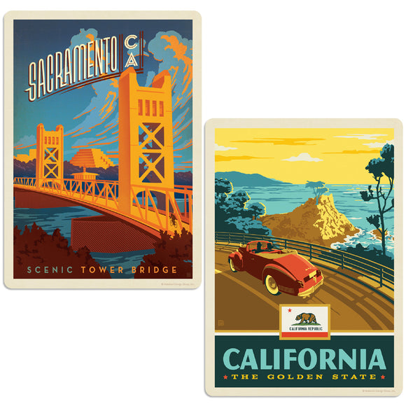 ADG 2 Decal Set Wholesale - US Cities California 12