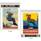 Vail Colorado Rather Be Skiing Decal Set of 2