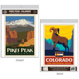 Pikes Peak Colorado Bighorn Decal Set of 2