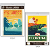 Orlando Florida Alligator Decal Set of 2