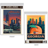 Atlanta Georgia Peach State Decal Set of 2